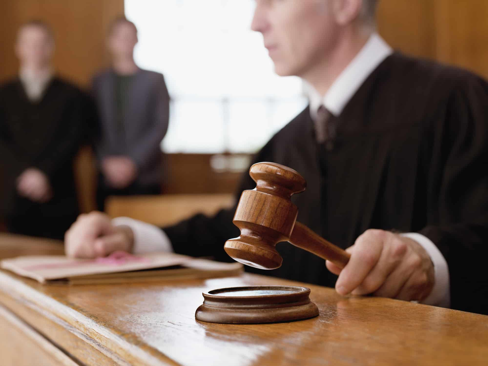 A Judge Banging His Gavel