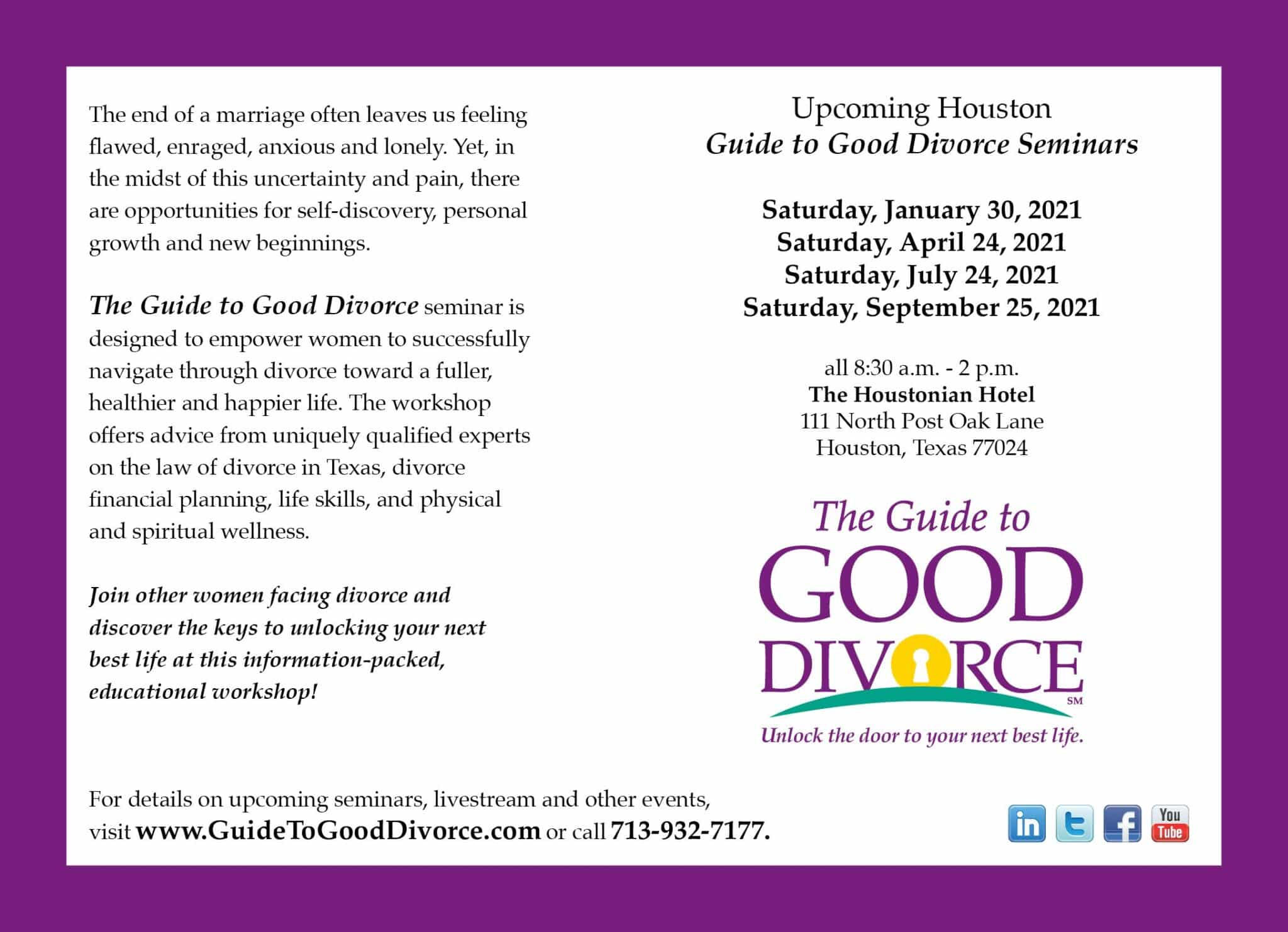 The Guide to Good Divorce Seminars
